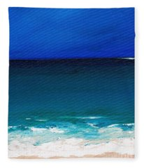 The Tide Coming In Fleece Blanket