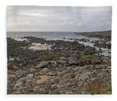 The Timing Of Stone -- Giant's Causeway -- Ireland Fleece Blanket
