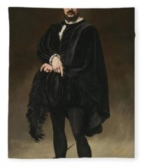 The Tragedian Actor Rouviere As Hamlet Fleece Blanket