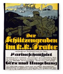 The Trench In The Prater, 1918 Fleece Blanket