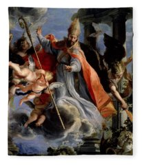 The Triumph Of St. Augustine 354-430 1664 Oil On Canvas Fleece Blanket