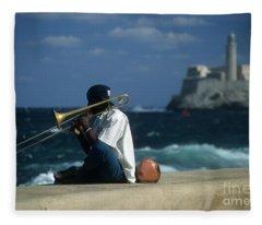 The Trombonist Fleece Blanket
