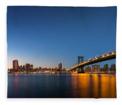 The Two Bridges Fleece Blanket
