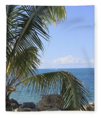 Key West Ocean View Fleece Blanket