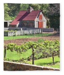 The Vineyard Barn Fleece Blanket