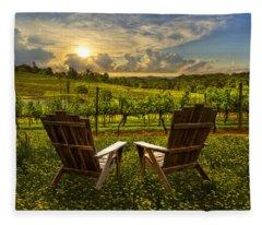 The Vineyard   Fleece Blanket