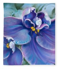 The Violet Fleece Blanket