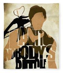 The Walking Dead Inspired Daryl Dixon Typographic Artwork Fleece Blanket