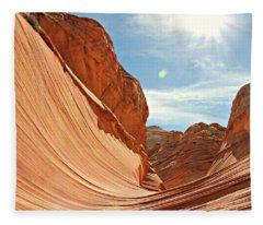 The Wave Rock #1 Fleece Blanket
