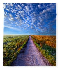 The Way Is Clear Fleece Blanket
