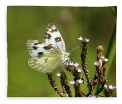The Western White Fleece Blanket