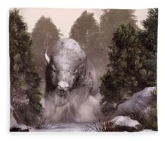 The White Buffalo Fleece Blanket