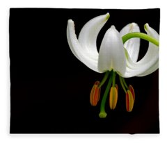The White Form Of Lilium Martagon Named Album Fleece Blanket
