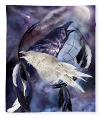 The White Raven Fleece Blanket