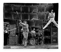 The Who - A Pencil Study - Designed By Doc Braham Fleece Blanket