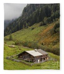 The Wimmertal In Tirol Fleece Blanket