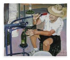 The Wine Maker Fleece Blanket