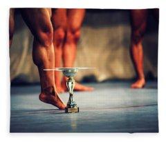 The Winner. Bodybuilding Fleece Blanket