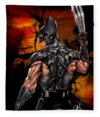 The Wolverine Fleece Blanket