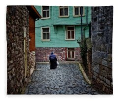 The Woman Near Chora Church Fleece Blanket