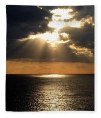 Key West Sunset The Word Fleece Blanket
