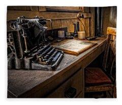 The Writer's Desk Fleece Blanket