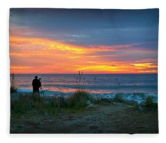 Waiting For The Sun Fleece Blanket