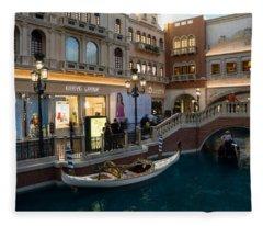It's Not Venice - The White Wedding Gondola Fleece Blanket