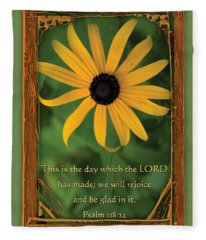 This Is The Day Sunflowers Fleece Blanket