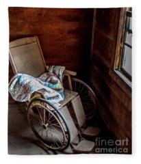 Wheelchair With A View Fleece Blanket