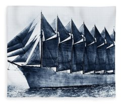 Thomas W. Lawson Seven-masted Schooner 1902 Fleece Blanket