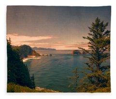 Three Arch Rocks National Wildlife Refuge Fleece Blanket