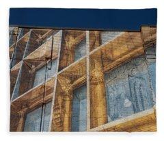 Three Dimensional Optical Illusions - Trompe L'oeil On A Brick Wall Fleece Blanket