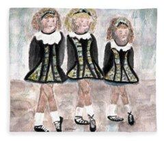 Three Irish Lasses Fleece Blanket
