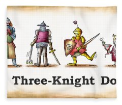 Three Knight Dog Fleece Blanket