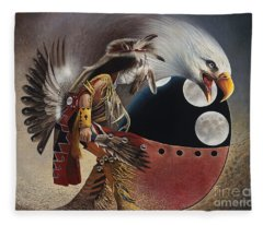 Three Moon Eagle Fleece Blanket