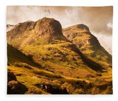 Three Sisters. Glencoe. Scotland Fleece Blanket