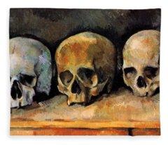 Three Skulls Fleece Blanket