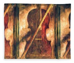 Three Violins Fleece Blanket
