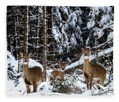 Three's A Crowd Fleece Blanket