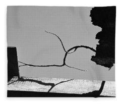 Through A Broken Barn Roof Fleece Blanket