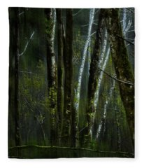 Through A Glass . . . Darkly Fleece Blanket