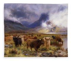 Through Glencoe By  Way To The Tay Fleece Blanket