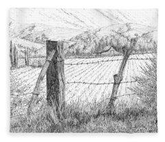 Through The Fence Fleece Blanket