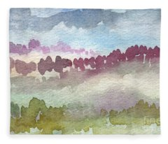 Through The Trees Fleece Blanket
