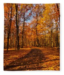 Through The Woods We Go Fleece Blanket