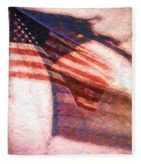 Through War And Peace Fleece Blanket