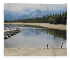 Throwing Rocks Fleece Blanket