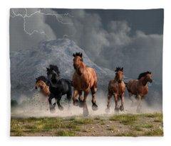 Thunder On The Plains Fleece Blanket