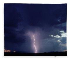Thunderstorm Over Sedona, Arizona Fleece Blanket